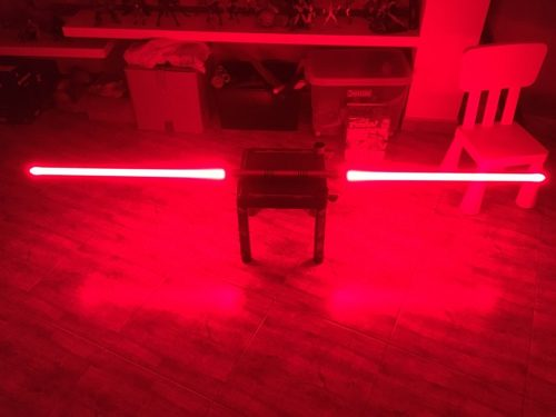 Metal Hilt Heavy Dueling Darth Maul Double Blade Lightsaber from Star The Wars with Electronics photo review