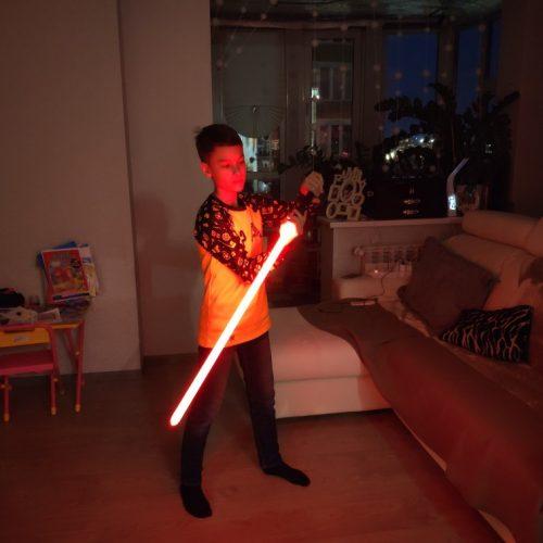 LED Light Saber Force FX Lightsaber with Sound and Light, Metal Hilt, RGB Wars Sword Toy for Kids photo review