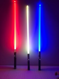 Cosplay RGB Sword 11 Colors Lightsaber Boy Girl Flashing Sword Dueling Light saber photo review