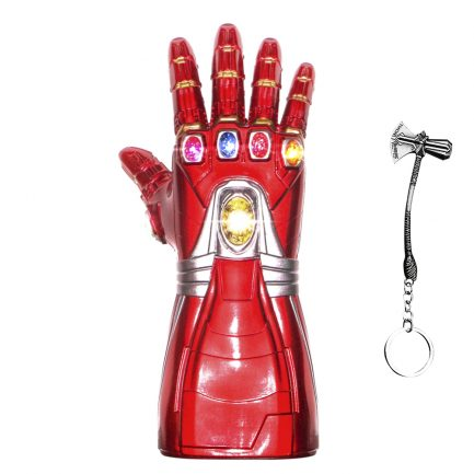 New Iron man Infinity Gauntlet for Kids, Iron Man Glove LED with Removable Magnet Infinity Stones-3 Flash mode.