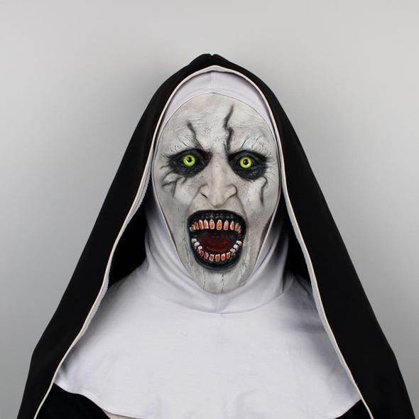 The Nun Cosplay Demon Nun Horror Mask The Conjuring Valak