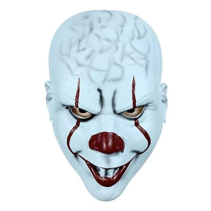 Scary IT Clown mask Horror Stephen King's It Clown Mask Evil It Clown Mask Creepy Teeth IT Stephen Clown Halloween Mask.