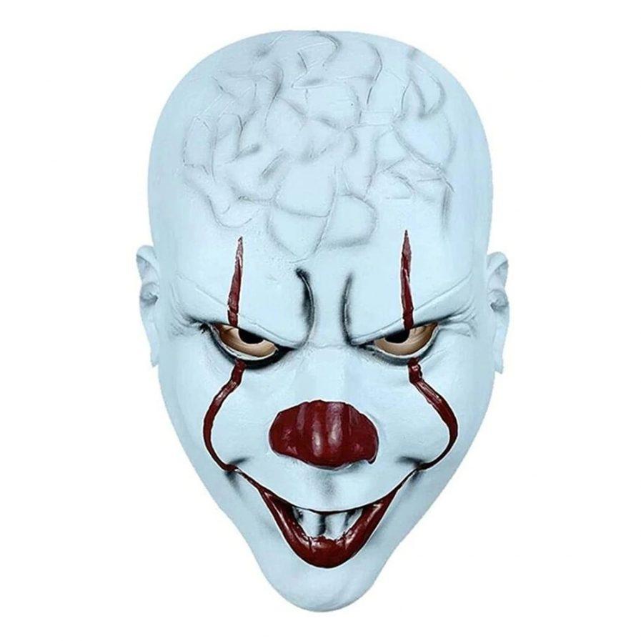 Scary IT Clown mask Horror Stephen King's It Clown Mask Evil It Clown Mask Creepy Teeth IT Stephen Clown Halloween Mask.