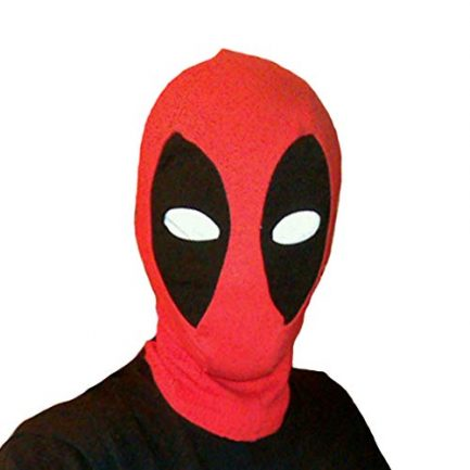 Deadpool Mask Breathable Fabric Faux Leather Full Face Mask Halloween Party Cosplay Prop